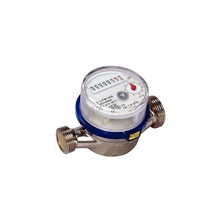 Contador de agua chorro unico clase b 1 sin racores 3 4 for Caja contador agua