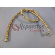 JUEGO 2 LATIGUILLOS GASOIL 1/4 HEMBRA CODO - 1/4 HEMBRA CODO 1 METRO