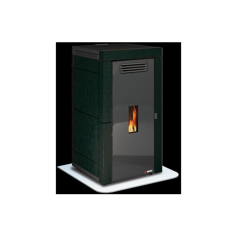 Estufa caldera biomasa pellet agua aire ungaro maia classic 18 kw negro ceramica - Caldera pellets agua y calefaccion ...