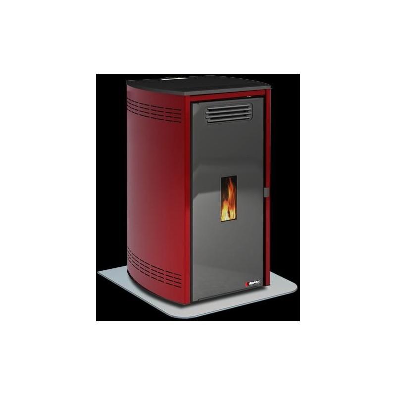 Estufa caldera biomasa pellet agua aire ungaro maia style 24 kw burdeos aluminio - Caldera pellets agua y calefaccion ...
