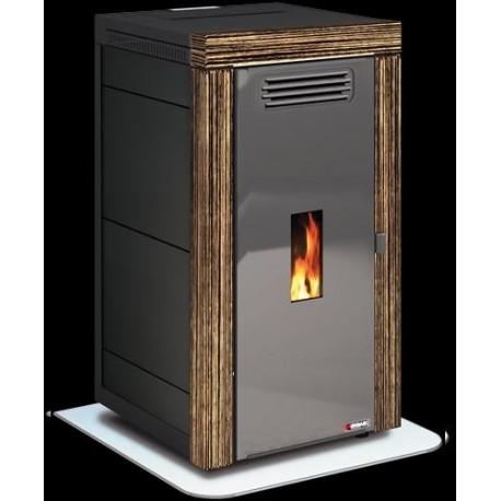 Estufa caldera biomasa pellet agua aire ungaro maia blend 18 kw zebrano madera - Caldera pellets agua y calefaccion ...