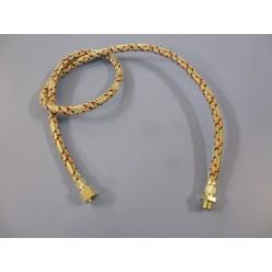JUEGO 2 LATIGUILLOS GASOIL 3/8 ROSCA HEMBRA - 1/4 ROSCA HEMBRA 1 METRO
