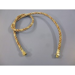 JUEGO 2 LATIGUILLOS GASOIL 3/8 ROSCA HEMBRA - 1/4 ROSCA MACHO 1 METRO