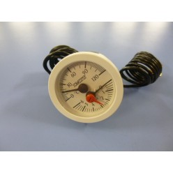 TERMOHIDROMETRO BLANCO D52 0-120ºC 0-6bar 1000mm. PVC ROSCA 1/4