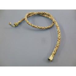 JUEGO 2 LATIGUILLOS GASOIL 3/8 ROSCA HEMBRA - 3/8 ROSCA HEMBRA CODO 1 METRO