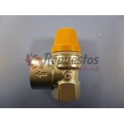 """VALVULA DE SEGUIRIDAD SOLAR CALEFFI     6 BAR  1 /2"""" H-3/4""""- 8 BAR H"""